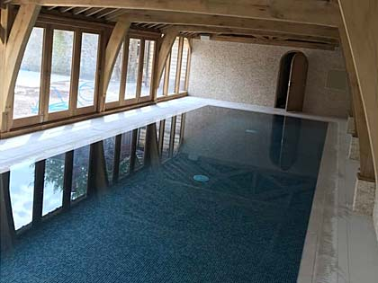 Indoor swimming pools designed and installed