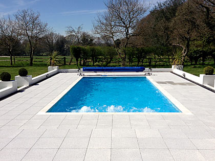 Outdoor swimming pools designed, built and installed by AD Pools